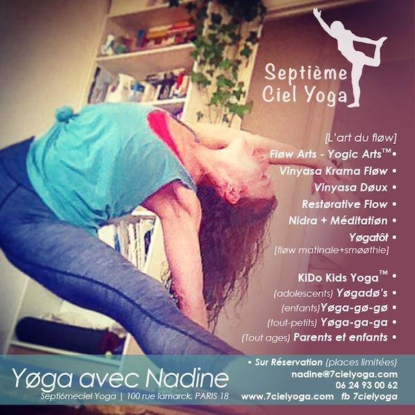 Cours avec Nadine ★ Septièmeciel Yoga | Montmartre