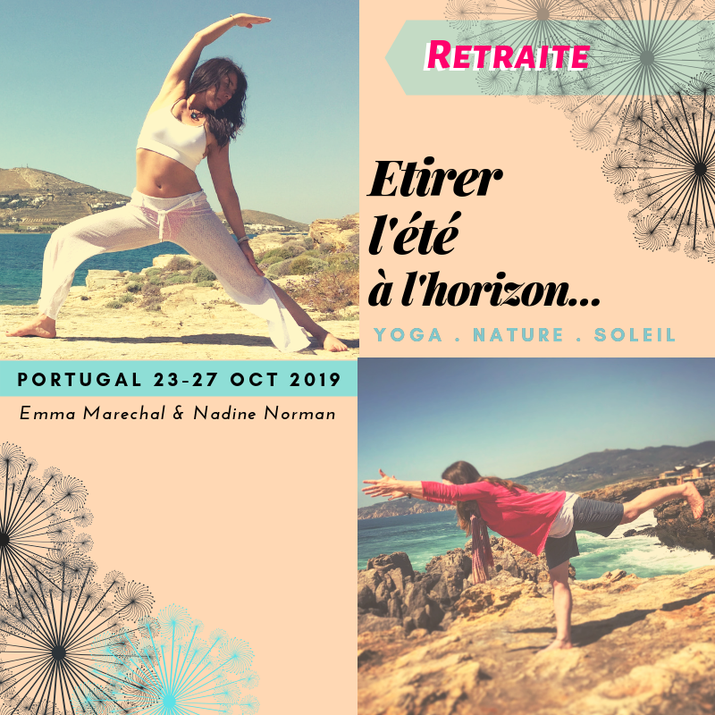 Voir Programme plus précis ✽ RETRAITEYoga au PORTUGAL • du 23 au 27 octobre 2019