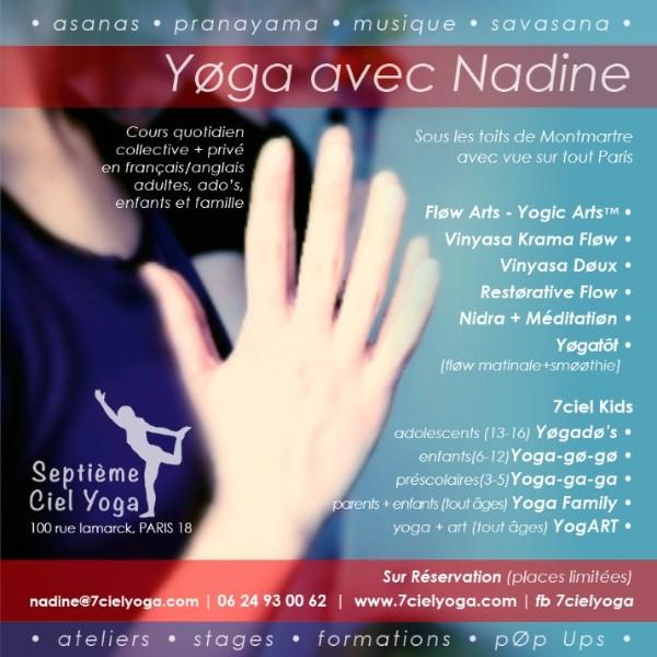Yoga avec Nadine | Septièmeciel Yoga | Montmartre