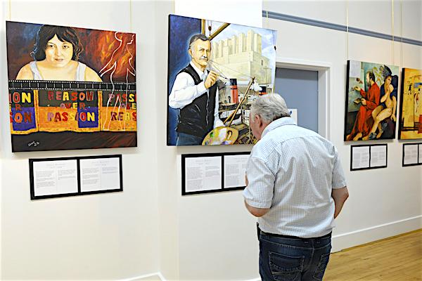 La collection L'Art est un Miroir de Jérémie Giles au Pavillon Mance de Baie-Comeau. Photo Daniel Le Saunier