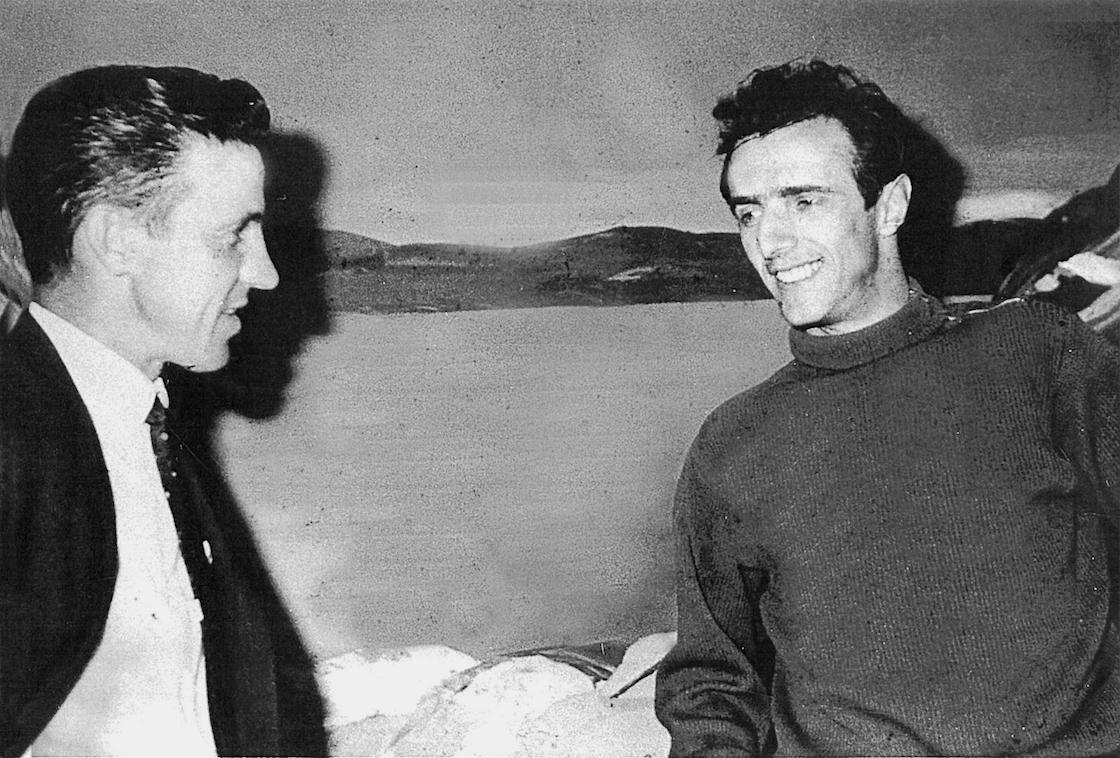 Jérémie Giles et Gilles Vigneault au Centre d'art Manicouagan