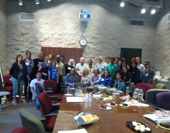 """""""Emerald Necklace docents-in-training at the program's final session held at the Huntington Library and Gardens."""""""