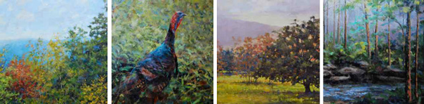 """Paintings included in """"The Blue Ridge"""" at Blowing Rock Frameworks and Gallery"""