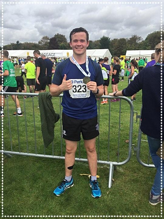 Alistair Perkins half marathon 2017