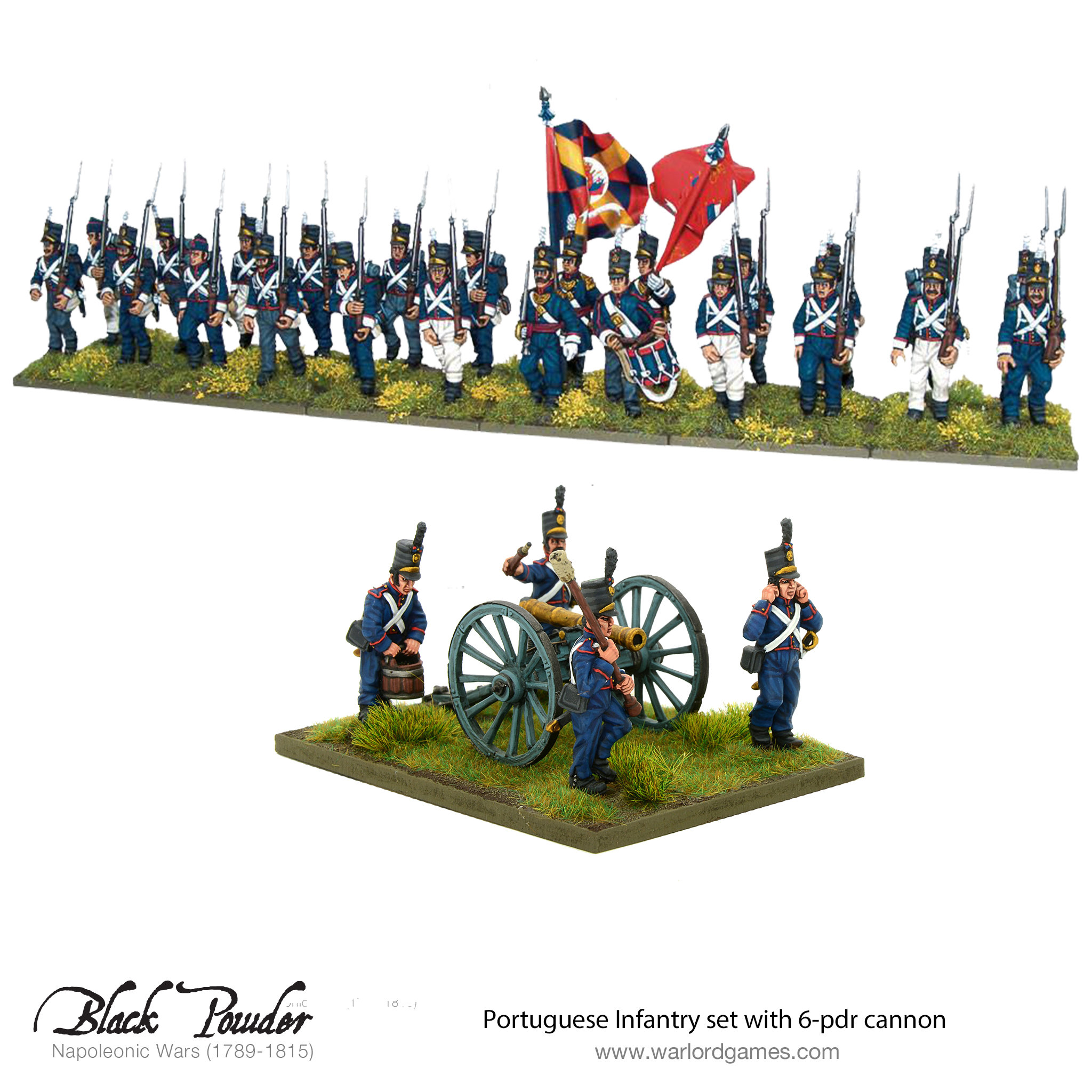 Portuguese Infantry set with 6-pdr cannon