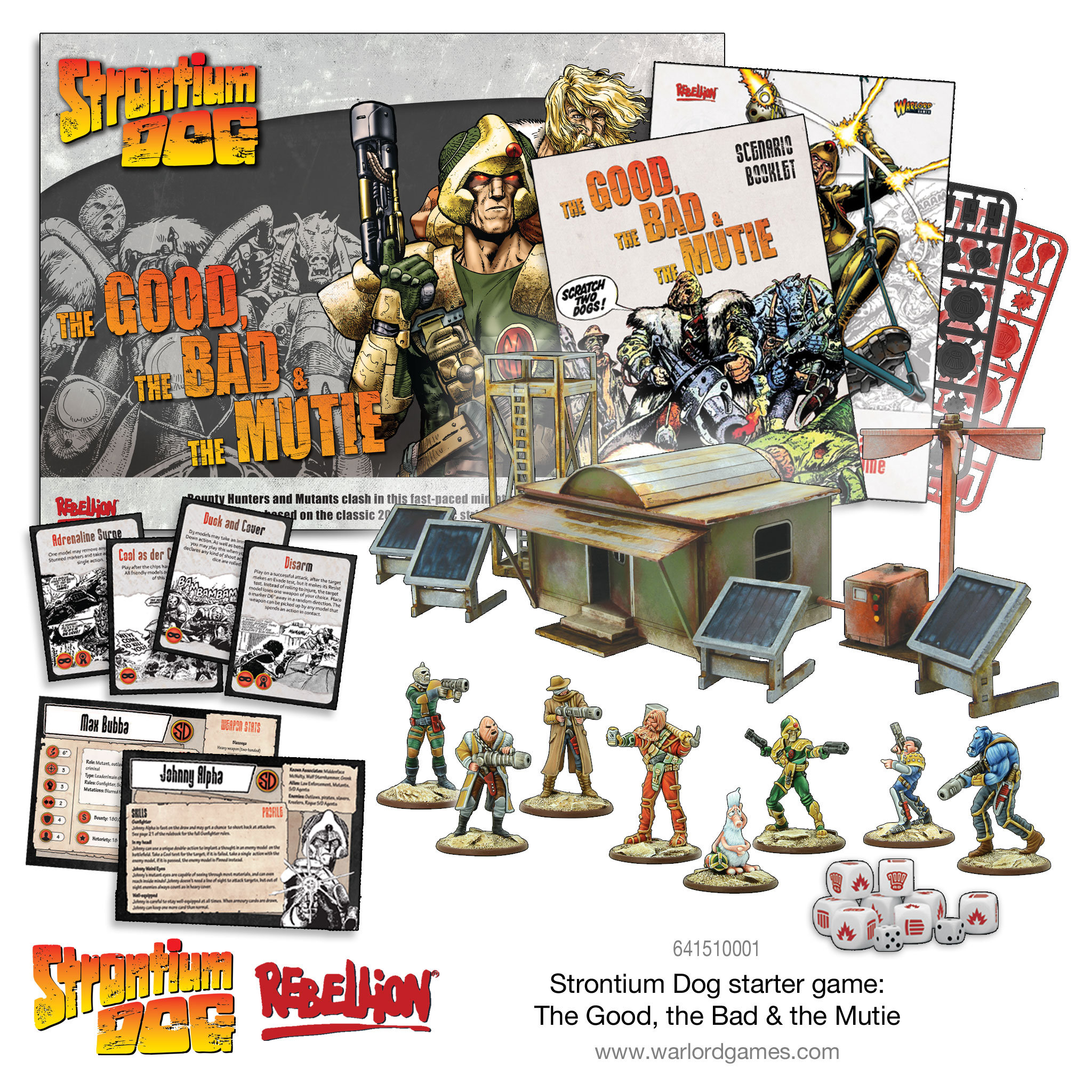 New Strontium Dog The Good The Bad and the Mutie Starter Game