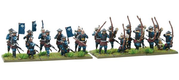 New Pike & Shotte Samurai Ashigaru Missile Troops