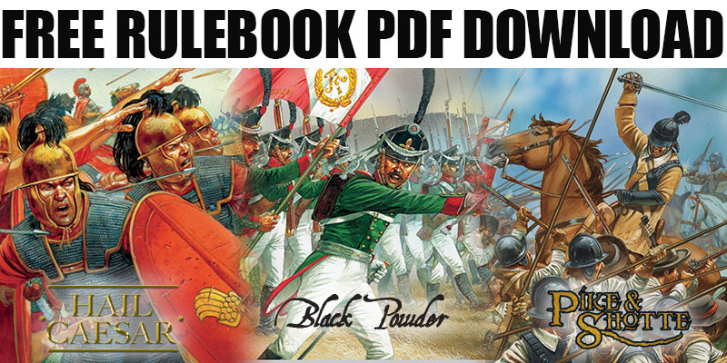 Free PDF Rulebook Download Hail Caesar Black Powder Pike & Shotte