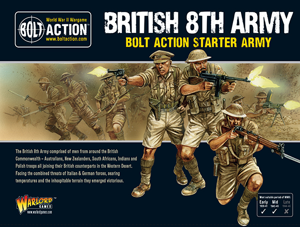 New Bolt Action British 8th Army Starter Army