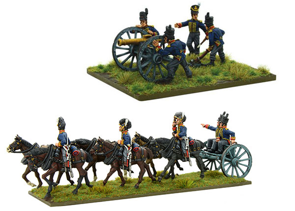 New Black Powder Napoleonic British Royal Artillery 9-pdr Cannon plus Limber