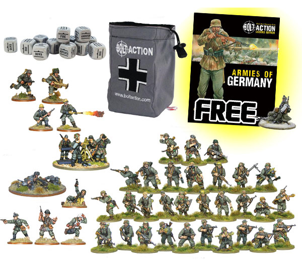 New Bolt Action German Heer Grenadier Starter Set 1943-45 1000pt Army