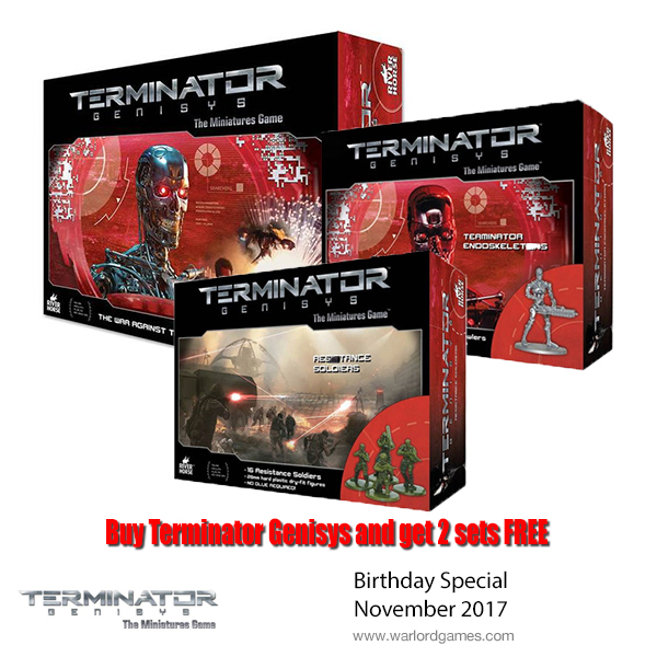 Buy the Termainator Genisys Game and get 2 plastic sets FREE