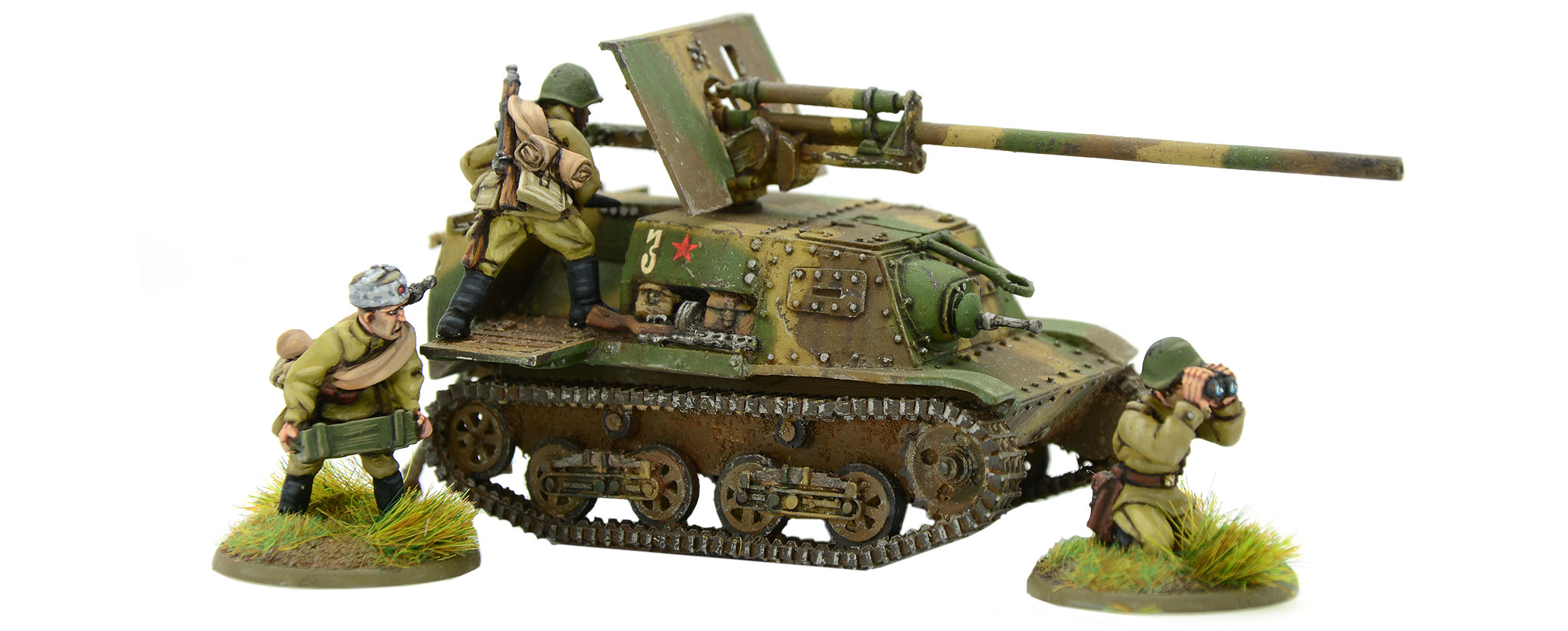 New Bolt Action Soviet Zis 30 Self Propelled Gun