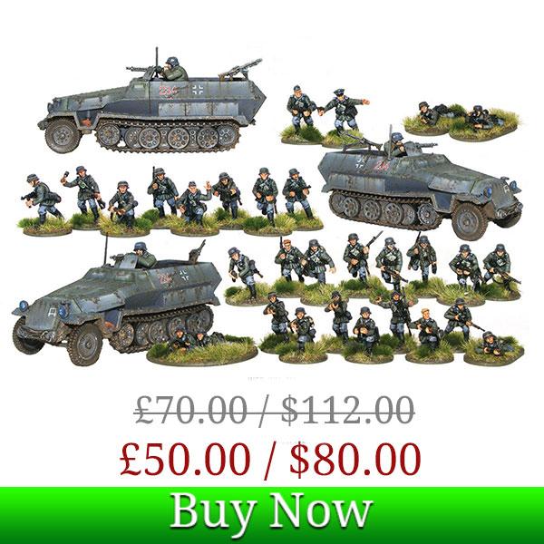 Bolt Action Blitzkrieg Panzergrenadiers Box Deal Picture