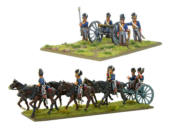 New Black Powder Napoleonic British Royal Artillery 6-pdr Cannon plus Limber