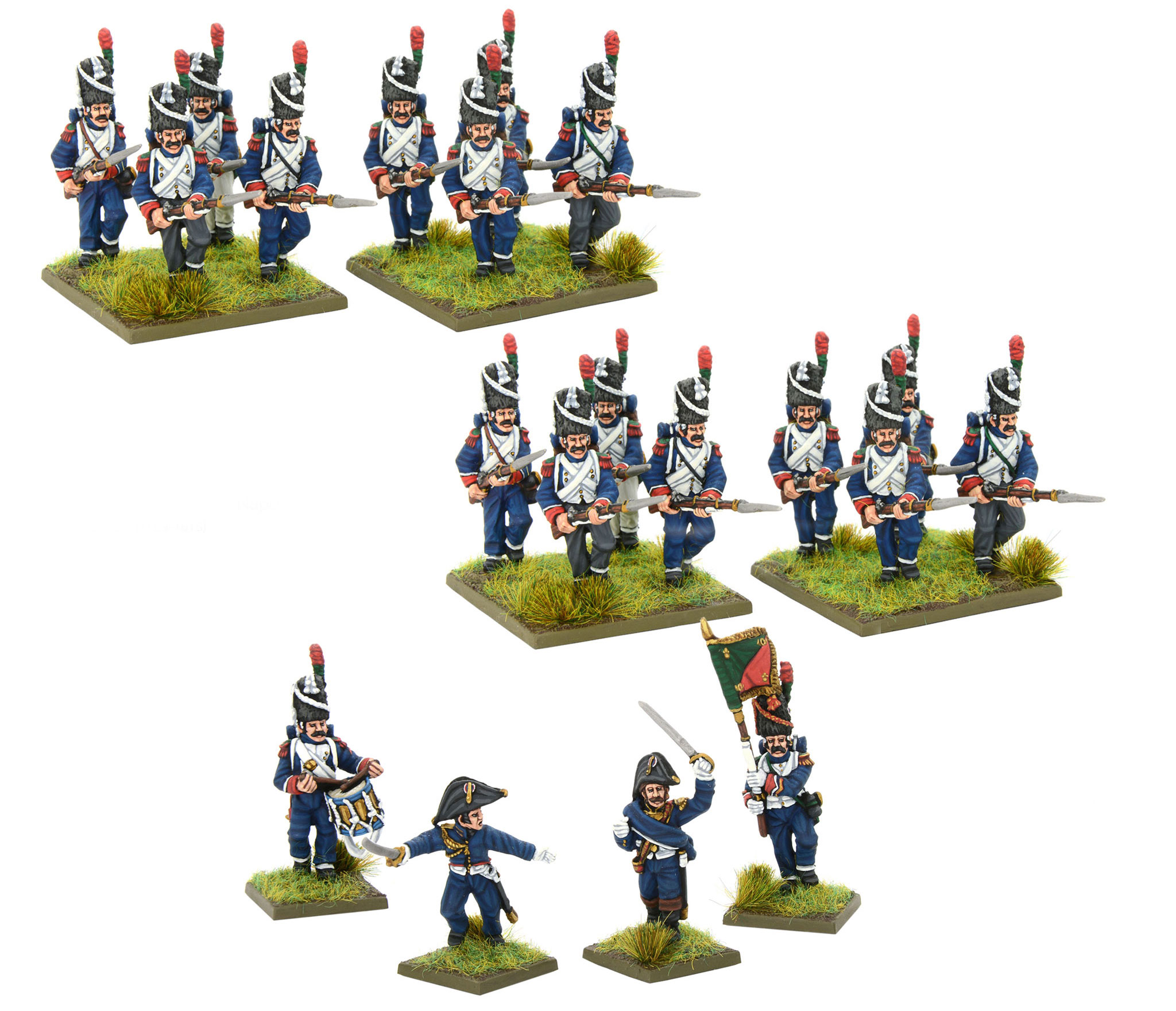 New Napoleonic French Chasseurs A Pied of the Imperial Guard Regiment Bundle