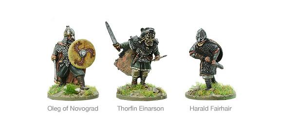Models of Hail Caesar Viking Warlords