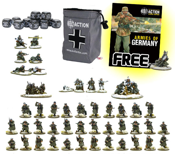 New Bolt Action German Winter Heer Grenadier Starter Set 1943-45 1000pt Armies