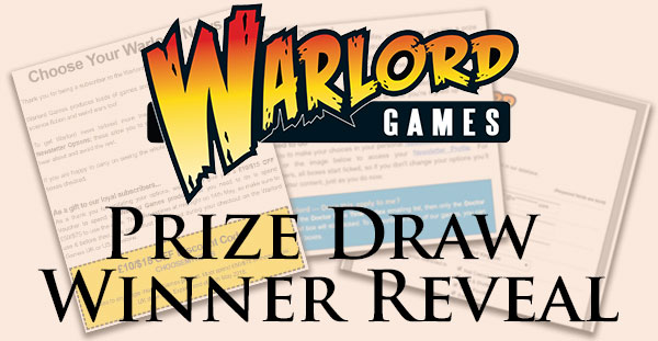 Warlord Games Prize Draw Winner Reveal Banner