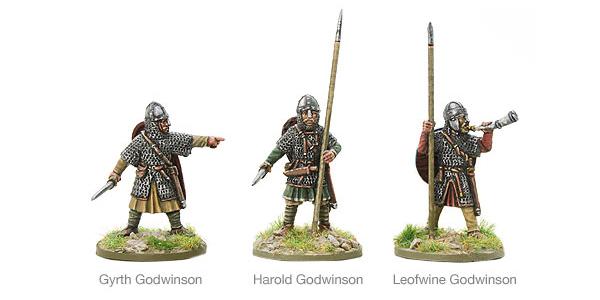 New Hail Caesar SAGA Saxon Leaders Battle of Hastings