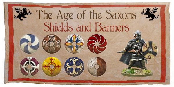 New Hail Caesar Age of the Saxons Shields and Banners