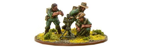 Bolt Action British Chindit Medium Mortar Team