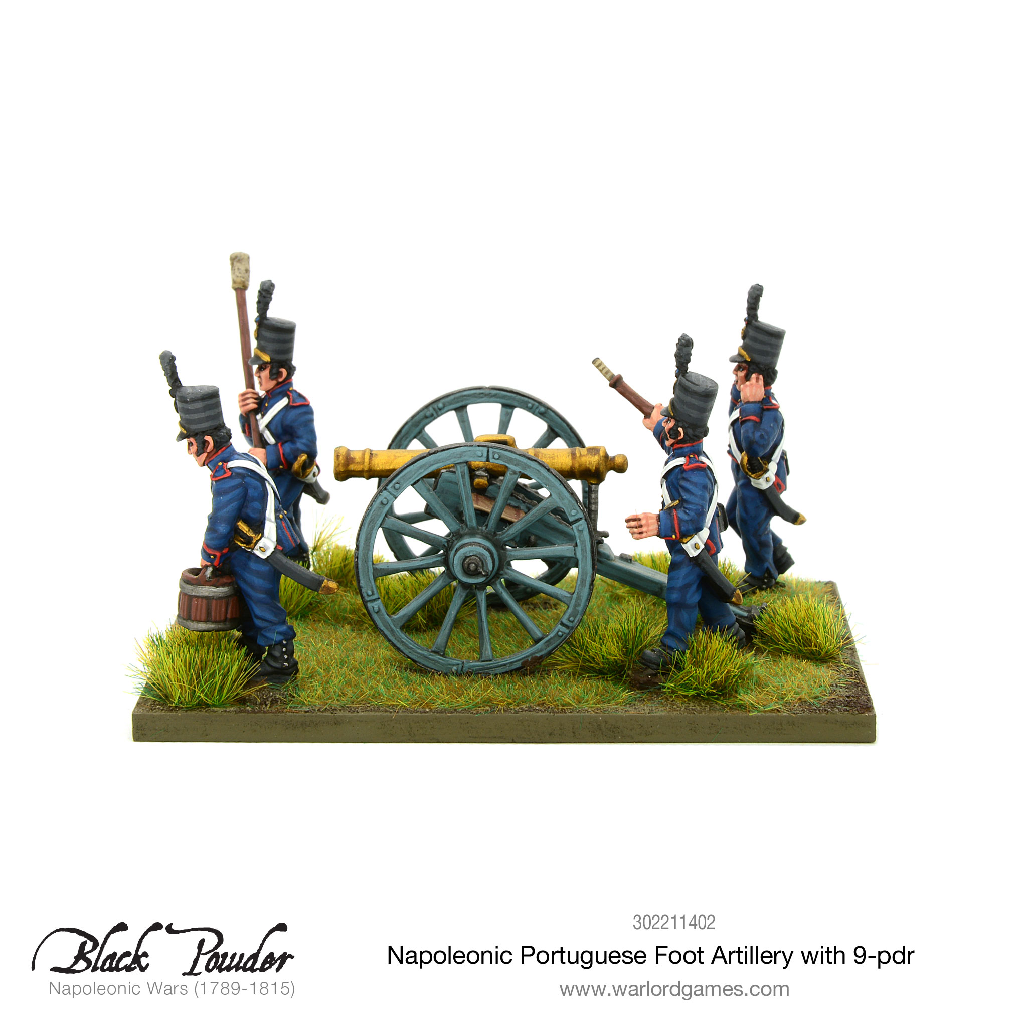 Portuguese foot artillery with 9-pdr