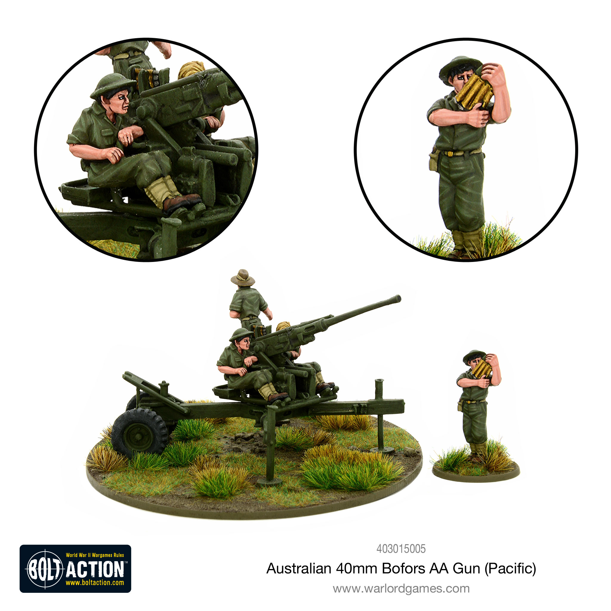 Coming Soon Bolt Action Australian 40mm Bofors AA Gun