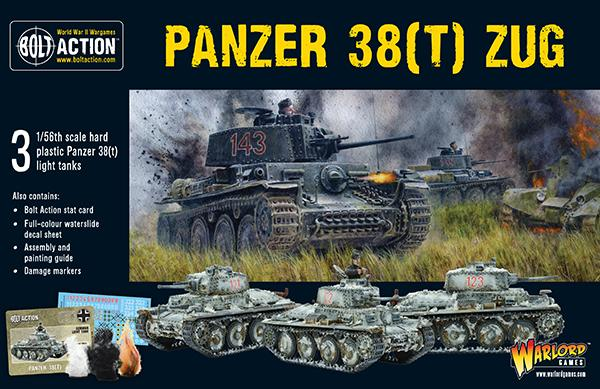 Bolt Action Panzer 38t Zug Box Set