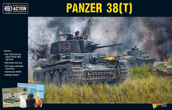 Bolt Action German Panzer 38t Tank