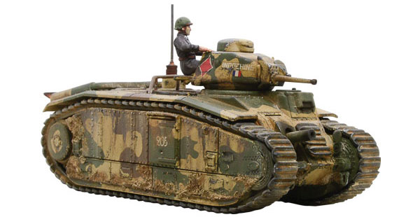 New Bolt Action French Char B1 bis plastic