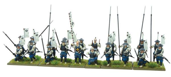 New Pike & Shotte Samurai Ashigaru Spearmen