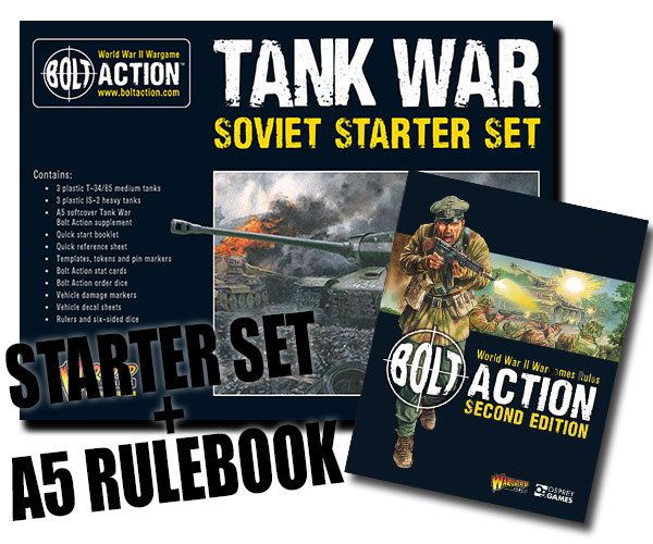 Box Cover for Bolt Action Soviet Tank War Starter Set with A5 Bolt Action Rulebook