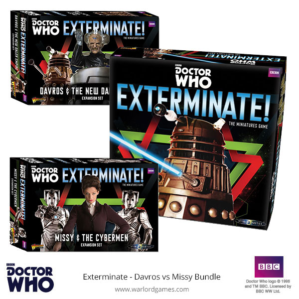 Doctor Who Exterminate with Davros and Missy bundle
