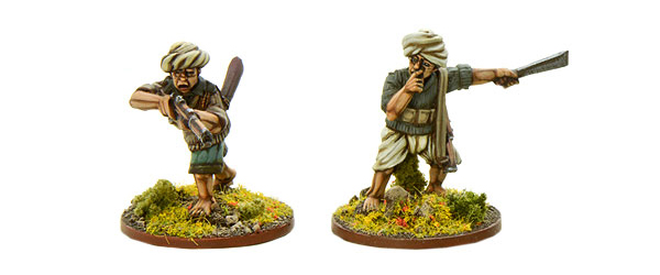 Models of Bolt Action Burmese Scouts