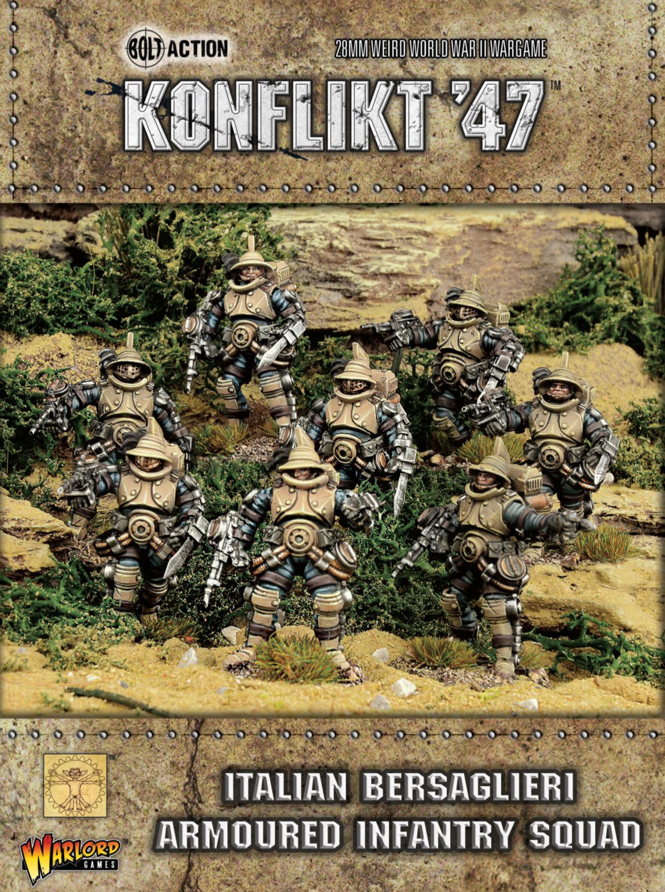New Konflikt '47 Italian Bersaglieri Armoured Infantry Squad
