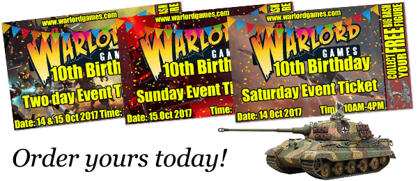 Warlord Games 10th Birthday Big Bash tickets