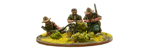 Bolt Action British Chindit Medium Machine Gun Team