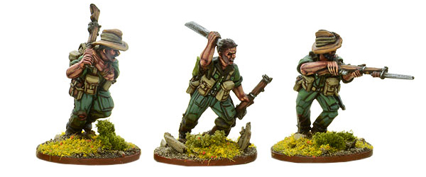 Models of Bolt Action Chindit Close Quarter Fighters