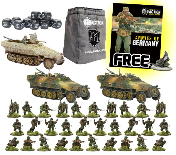 New Bolt Action German Waffen-SS Starter Set 1943-45 1000pt Armies
