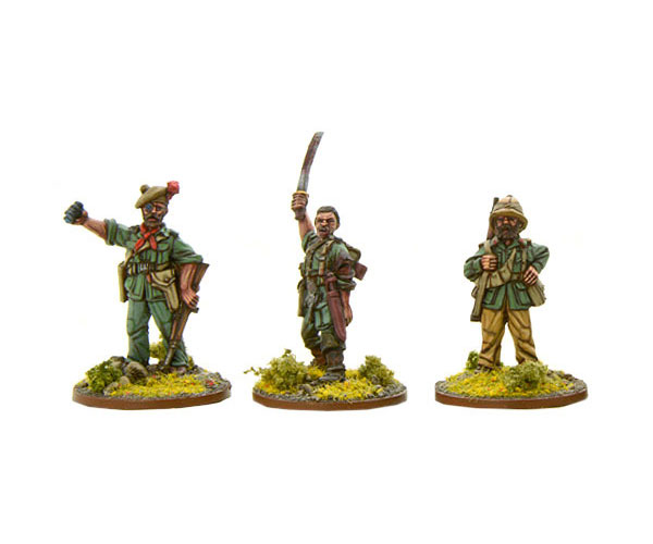 Bolt Action British Chindit Characters
