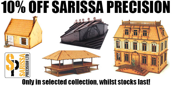 10% OFF Sarissa Precision Deal