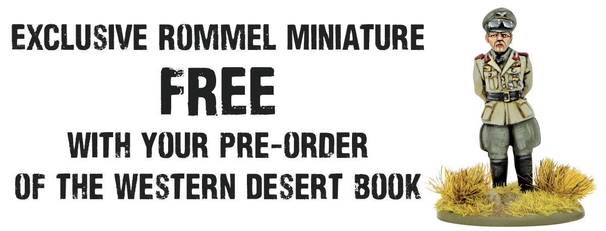 FREE Rommel Figure Banner with Western Desert Campaign Book