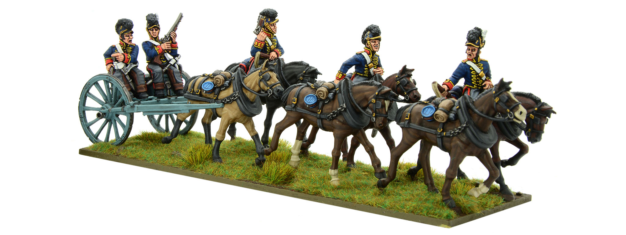 New Black Powder Napoleonic British Royal Horse Artillery Limber