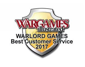 War Games Illustrated Best Customer Service 2017 award