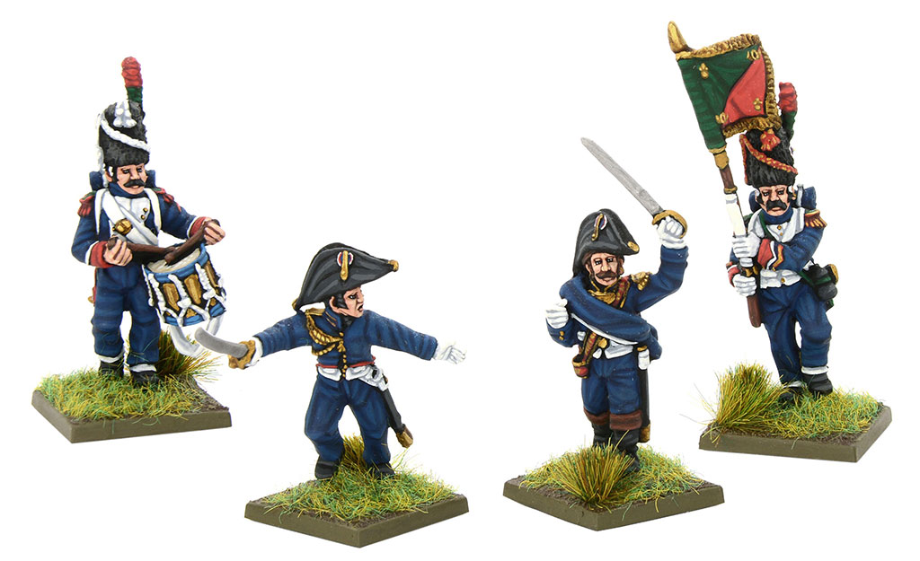 New Black Powder Napoleonic French Chassuers a pied of the imperial guard command