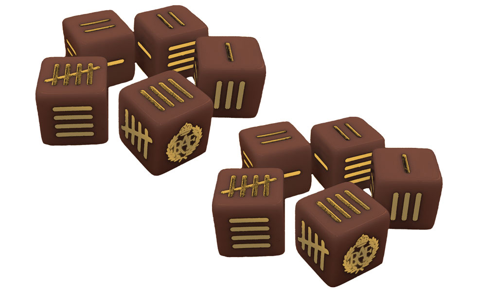 New Blood Red Skies Dice Pack British
