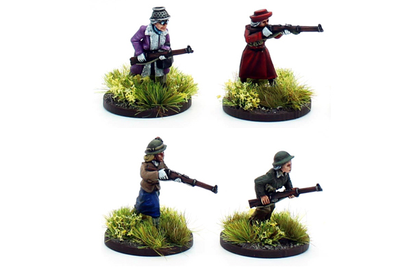 New Bolt Action Opertation Sea Lion Footsore Miniatures Women's Institute