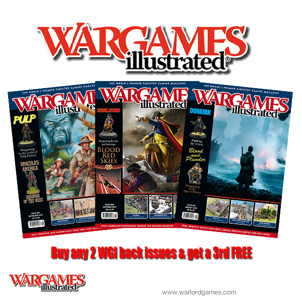 Buy 2 issues of Wargames Illustrated and get a 3rd FREE