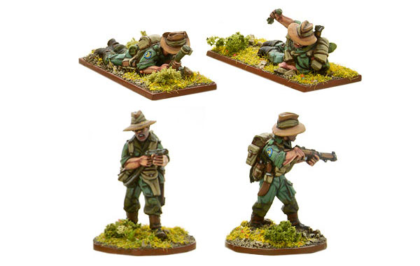 Bolt Action British Chindit Light Mortar & Flamethrower Team